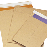 Kraft Self Seal Stay Flat Mailers