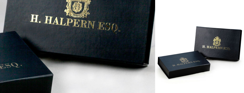 Brand identity collapsible folding gift box